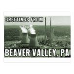 Saludos del PA de la central eléctrica del valle Postal