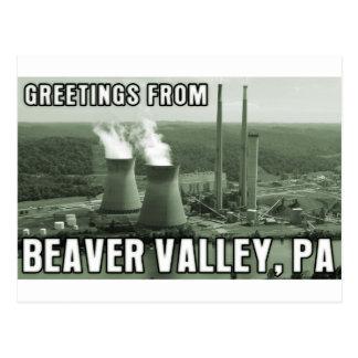 Saludos del PA de la central eléctrica del valle Tarjetas Postales