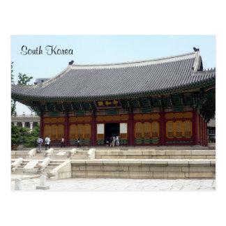 saludos del palacio de Seul Postal