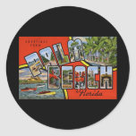 Saludos del Palm Beach la Florida Pegatina Redonda
