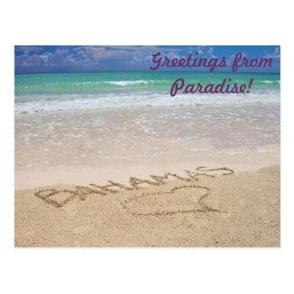 Saludos del paraíso tarjetas postales
