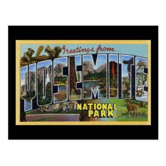 Saludos del parque nacional de Yosemite Postal