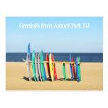 Saludos del parque NJ - tablas hawaianas de Asbury Postal