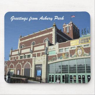 Saludos del parque NJ - teatro de Asbury de Paramo Alfombrillas De Ratón