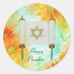 Saludos del Passover Etiquetas Redondas