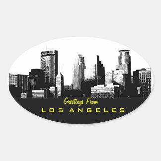 Saludos del pegatina de Los Ángeles
