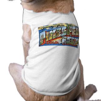 ¡Saludos del pico de los lucios, CO! Playera Sin Mangas Para Perro