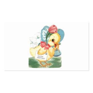 Saludos del polluelo de Pascua Tarjetas De Visita