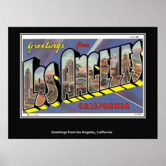 Saludos del poster de Los Ángeles California