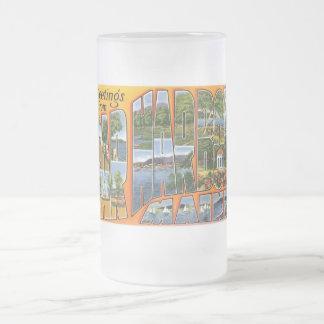 ¡Saludos del puerto de la barra, Maine! Taza De Cristal