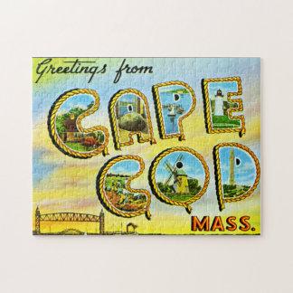 Saludos del rompecabezas del vintage de Cape Cod