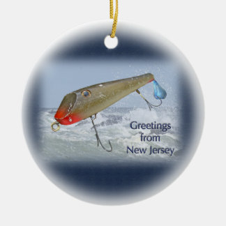 Saludos del señuelo de la pesca de New Jersey Adorno De Reyes
