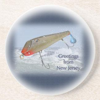 Saludos del señuelo de la pesca de New Jersey Posavasos Personalizados
