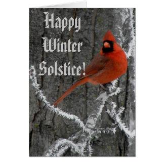 Saludos del solsticio de invierno tarjetón