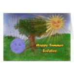 Saludos del solsticio de verano felicitacion