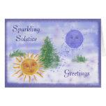 Saludos del solsticio tarjeta