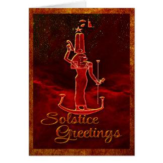 Saludos del solsticio tarjeta de felicitación