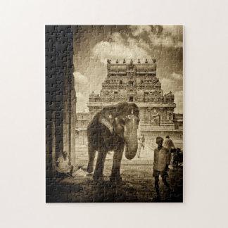 Saludos del templo rompecabezas con fotos