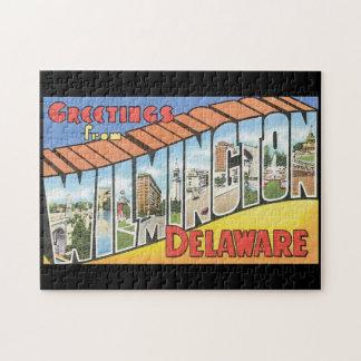Saludos del viaje de Wilmington Delaware_Vintage Puzzle