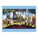 Saludos del viaje del vintage de Hollywood Califor