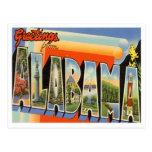 Saludos del vintage de Alabama Postal