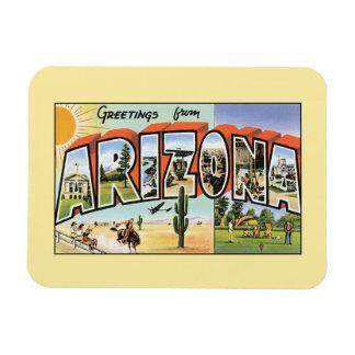 Saludos del vintage de Arizona Imán De Vinilo
