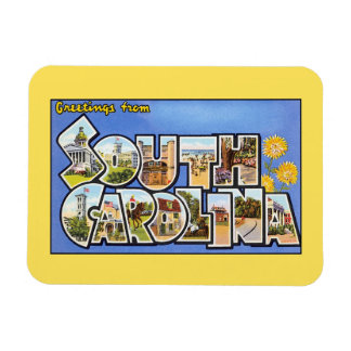 Saludos del vintage de Carolina del Sur Imanes Flexibles