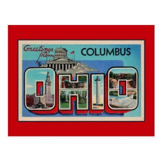 Saludos del vintage de Columbus Ohio Postal