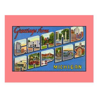 Saludos del vintage de Grand Rapids MI Postales
