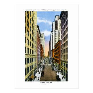 Saludos del vintage de Kansas City, Missouri de Postales