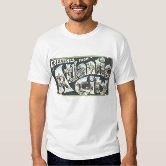 Saludos del vintage de la camisa de Atlantic City