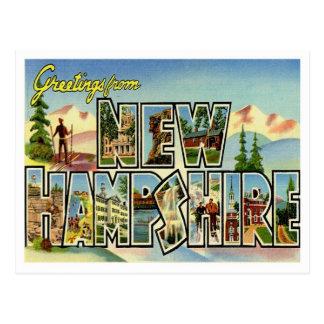 Saludos del vintage de New Hampshire Tarjeta Postal