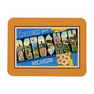 Saludos del vintage de Petoskey Michigan Imanes Rectangulares