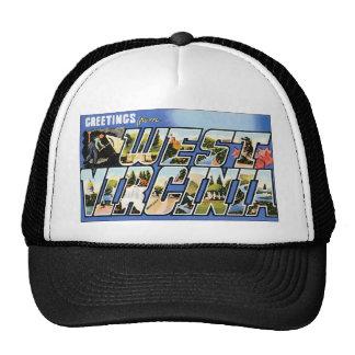 Saludos del vintage de Virginia Occidental Gorra