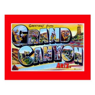 saludos del vintage del Gran Cañón Arizona Postales