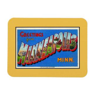 Saludos del vintage del manganeso de Minneapolis Iman