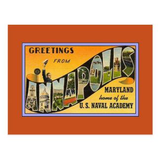 Saludos del vintage del MD de Annapolis Postales