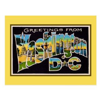 Saludos del vintage del Washington DC Tarjeta Postal