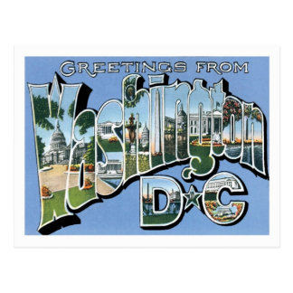 Saludos del vintage del Washington DC Tarjetas Postales