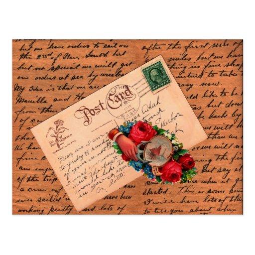 Saludos del vintage postales