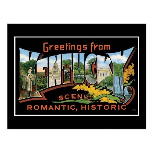 Saludos del vintage romántico histórico de Kentuck