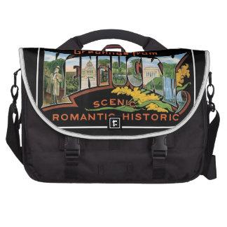 Saludos del vintage romántico histórico de Kentuck Bolsas Para Portatil