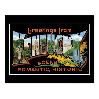 Saludos del vintage romántico histórico de postales