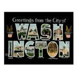 ¡Saludos del Washington DC! Postal