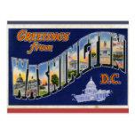 ¡Saludos del Washington DC! Tarjeta Postal