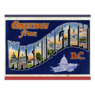 ¡Saludos del Washington DC! Tarjetas Postales