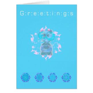 Saludos el   buenas fiestas de un extranjero lindo tarjeta de felicitación