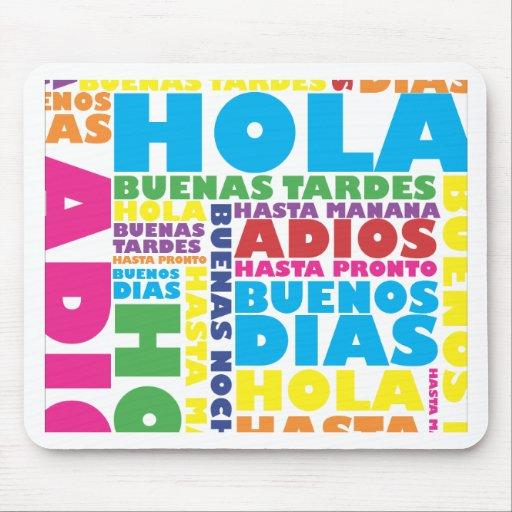 Saludos españoles alfombrilla de raton