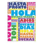 Saludos españoles Notecard Felicitación