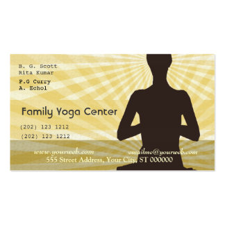 Saludos espirituales de la meditación de la yoga tarjetas de visita